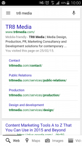 TR8 Media Mobile Friendly Search Results
